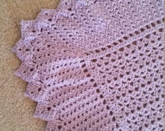 Lavender crochet baby blanket