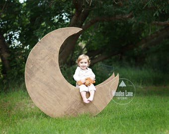 Moon Digital Background/Moon Digital Backdrop/Moon Prop/Newborn Moon Prop/Outdoor Moon