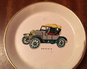 Two vintage car pin trays