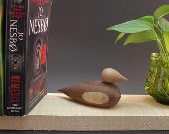 Wooden Duck, Wooden Bird, Shelf Decor, Collectible Item, Office Decor, Wooden Duck Collectible, Home Decor, Wooden Duck Decor, Bird Figurine