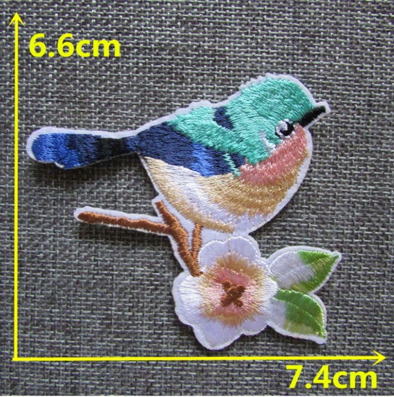 1 PCS Bird Animal Iron On Patch Embroidered Applique Sewing Patch Clothes Stickers Garment DIY Apparel Accessories