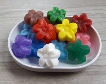 10 flower party favor soap floral theme bridal shower favors custom wedding favors. beautiful ideas. Home Design Ideas
