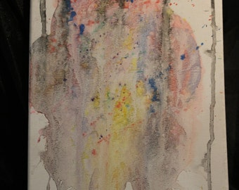 Abstract Watercolor Painting  9 in X 12 in