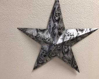 silver skulls metal star wall decor quot: metal star wall decor