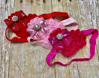 Valentine's Day headband, heart headband