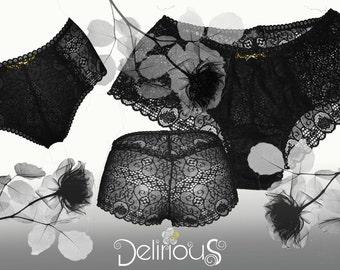Shorty lace black sweet delirium