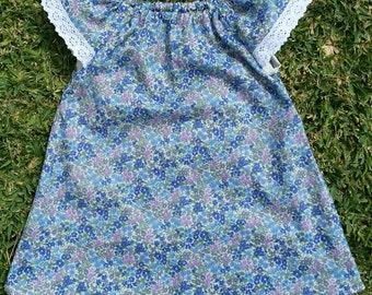 Little Blue Flower Dress