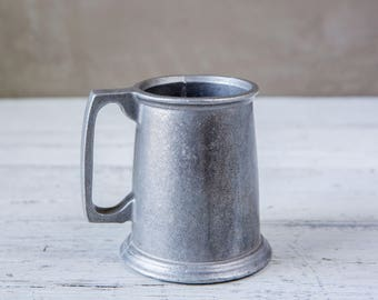 Tarnished Pewter Metal Beer Stein-Food Photography Props