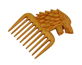 handmade wood hair comb stick Womens gift -Game of Thrones