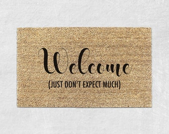 Cute Doormat - Funny Doormat - Funny Door mat - Funny Welcome Mat - Funny Rug - Front Door Mat - Housewarming Gift - Cute Door Mat 004