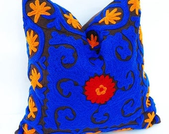 Suzani Pattern Hand Embroidered Cushion Covers