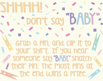 Don't Say Baby Rules Baby Shower/Sprinkle