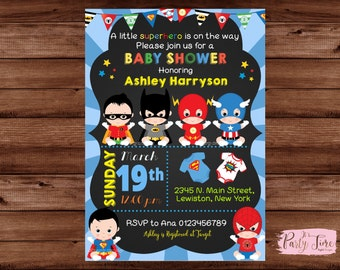 Superhero Baby Shower Invitation   Super Baby Shower Invitation   Super Baby  Invitation   Baby Superhero