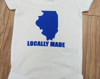 Illinois Locally Made Onesie