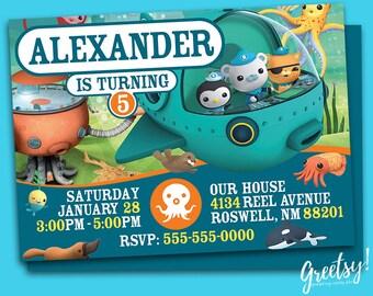 Octonauts Invitation, Octonauts Birthday, Octonauts Party, Octonauts Invites, Octonauts Printables, Octonauts Invite, Octonauts Digital Card