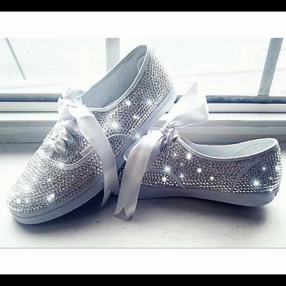 SHOE SALEWomen's Vans Custom Vans Bridal Sneakers