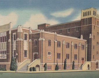 Albuquerque, New Mexico Vintage Postcard - First Baptist Church