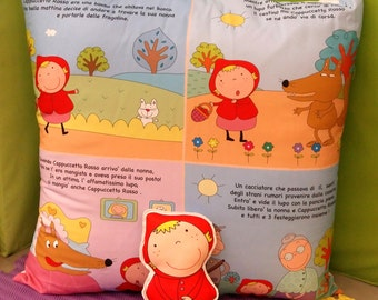 The pillow tells stories: little Red Riding Hood