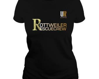 URBAN ROTTIE© Ladies Rottweiler Rescue Crew T-shirt,rottweiler t-shirt,rottweiler tees,rottie tees,rottweiler shirts,rottweiler fans,rotties