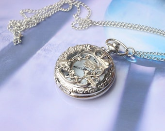Alice in Wonderland pocket watch necklace W4