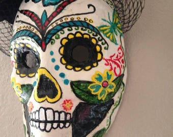 Dia de los Muertos-Flore mask