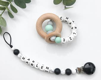 Personalised Teething Rattle