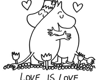 Moomin A5 print - Love is love