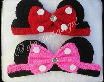 Minnie Knitted Ears Headband
