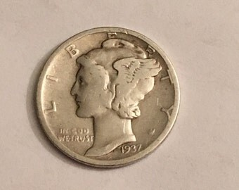 1937 USA Mercury Dime