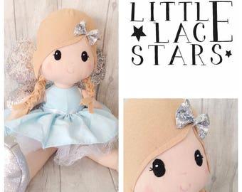 Handmade doll, Fairy doll, Large doll, Blue Fairy, Soft Doll, Soft Body Doll, fairy doll, large plush doll, large doll