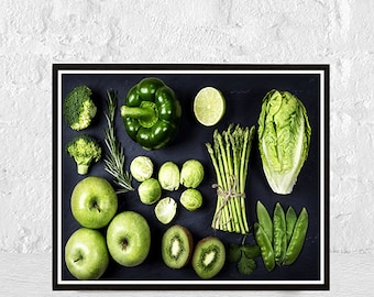 kitchen wall art, kitchen decor, Vegetables print, funny kitchen art,  kitchen artwork, kitchen decoration, vegetables garden poster