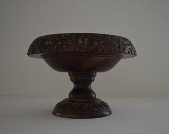 Primitive Mango Bowl, Hand carved Wood Bowl,  Decorative Wooden Bowl , Hand Carved Mango Wood