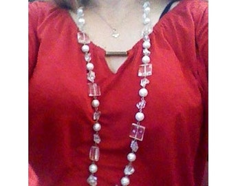 Necklace With Crystal Clear Stones