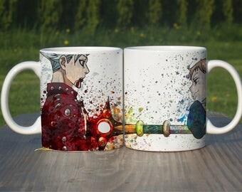 Seven Deadly Sins Anime Mug,Ban vs King, Anime Coffee Mug, Color Changing Mug, Watercolor Coffee Mug, Anime Coffee Cup,M115