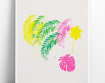 Palm tree screen painting 30 x 40 / single edition