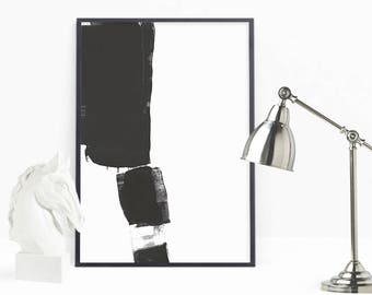Abstract Painting Prints, Black White Prints, Large Brush Stroke Art, Modern Wall Decor, Brush Prints, Abstract Art, Black Stripes Printable