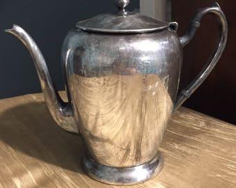 Academy silver over copper teapot