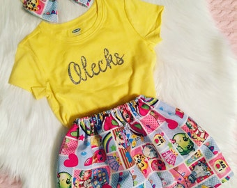 Custom skirts and personalized shirts