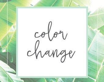 Extras - Color Change