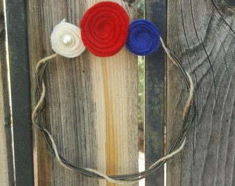 """4th of July 6"""" Wire Wreath"""