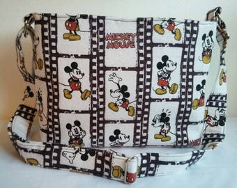 MICKEY MOUSE zippered shoulder bag/ crossbody