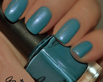 Lounging In Bywater - blue shimmer Nail Polish