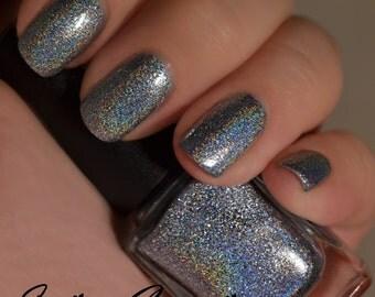 Magic In The Marigny - Light Blue Metallic Holographic Nail Polish