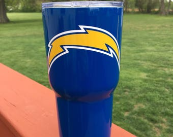 Personalized Sports Team RTIC 30oz Powder Coated Tumbler with Lid-Pick your tumbler color & sports team logo