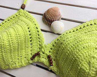 Neon bikini...crochet bikini set...triangle bikini