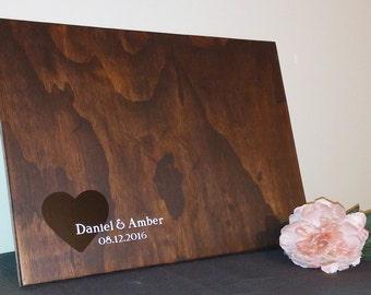 Rustic Wedding Guest Book Alternative/ Wood Guest Book/ Rustic Wedding Decor/ Wood Sign/ Wedding Gift/ Heart Sign/ Rustic Decor/ Heart sign