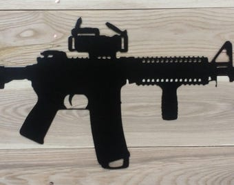 Metal Gun AR15 style with scope - FREE SHIPPING