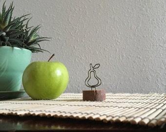 Retro Pear Shape Photo Clip Note Memo Holder - So cute for tiny notes!