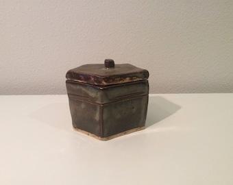 Pottery Keepsake Box