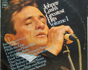 Johnny Cash's Greatest Hits Lp Country Rockabilly Walk The Line Ring Of Fire Columbia